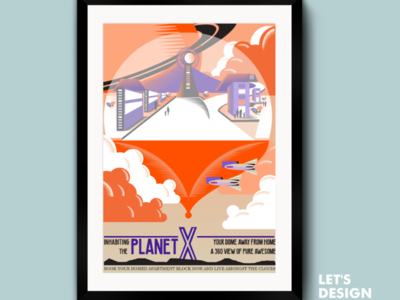 Planet X Poster 3 illustration  posters