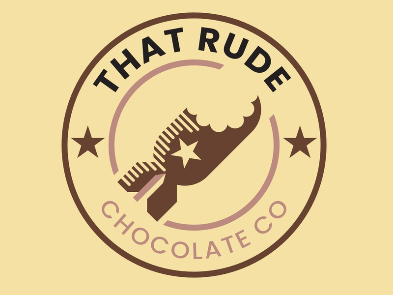 That Rude Chocolate Co Logo Emblem branding design identity logo designer logo design