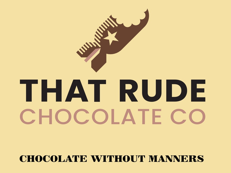 That Rude Chocolate Co - Vertical identity designer identity design branding design vertical logo design