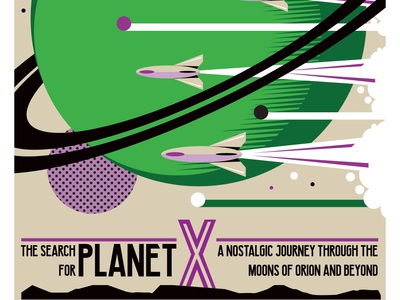 The Flight For Planet X illustration vector