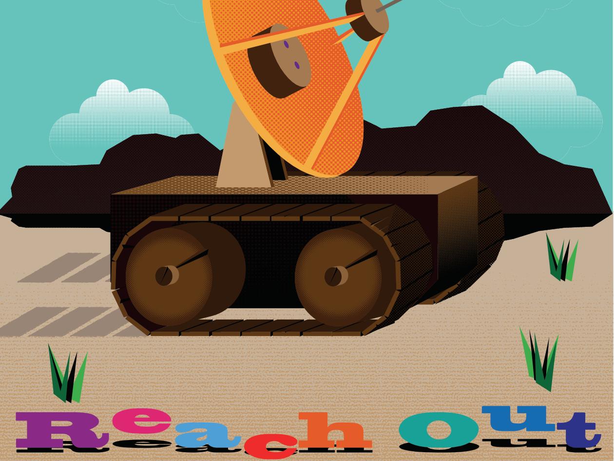 Reach Out design illustration