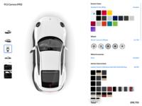 Porsche 911 Carrera (992) Customization UI website car customization 992 carrera 911 porsche