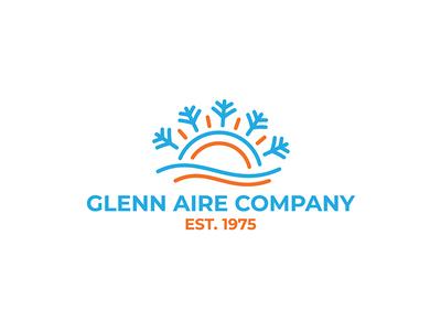 Glenn Aire Company Logo Design