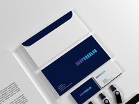 Deep Resolve - Logo Design Stationery Mockup