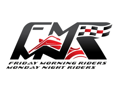 FMR MNR Logo bike sports racing vector branding minimalist professional modern beautiful identity brand logo concept creative design night monday riders morning friday