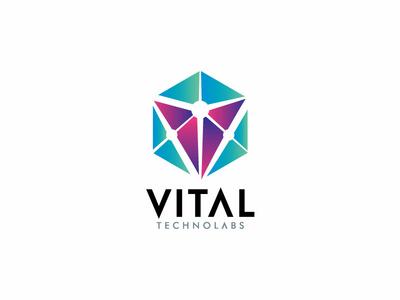 Vital Technolabs Logo Design