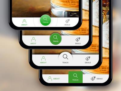 Navigation Exploration blockchain app mobile web ui design