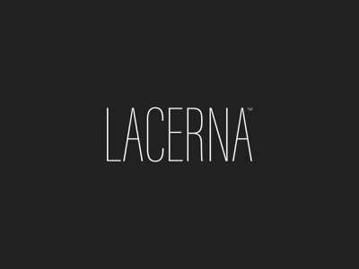 Logo Concept for LACERNA — 3 clothes wear branding brand identity brand design wordmark logotype logo variant concept