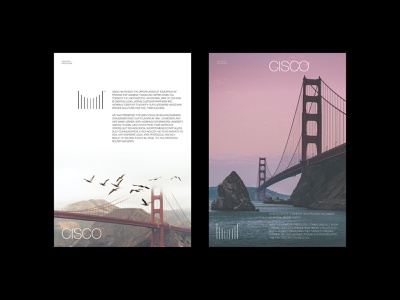 Redesigned CISCO Logo on Posters kapustin design poster cisco brand identity logo brand redesigning video youtube