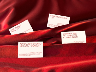 LBK Production & LBK Agency typo minimal clean red fashion business cards logo design branding brand identity