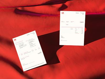 LBK Production & LBK Agency minimal clean brand book fashion red print documents branding brand identity