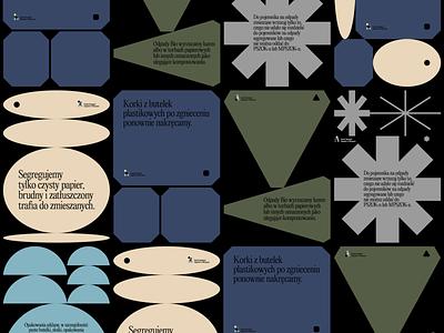Zasady Segregacji Odpadów w Warszawie kapustin poster design redesign rebranding logo branding design
