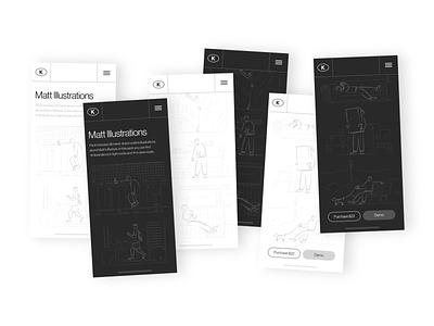 Matt Illustrations in Use stroke outline linear interface kappa kapustin resources vector design illustration