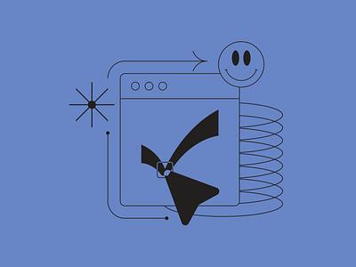Check / done illustration fromTokyo Illustrations 1.0⛩ digital vector design illustration linear outline kapustin tokyo done check
