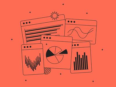 Graph illustration fromTokyo Illustrations 2.0⛩ digital vector design illustration kapustin outline linear tokyo analytics data chart wawe graph