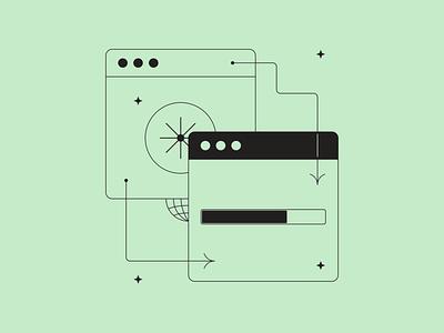 Transfer files illustration fromTokyo Illustrations 3.0 ⛩ outline linear tokyo digital vector design illustration files share tranfer