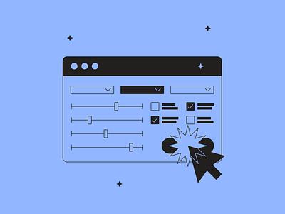 Filters illustration fromTokyo Illustrations 3.0⛩ outline linear tokyo kapustin digital vector design illustration click select filters