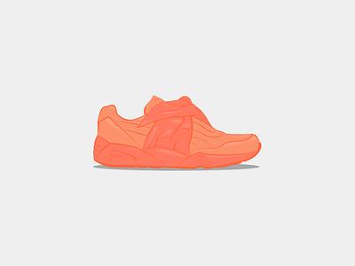 Fenty by Rihanna & Puma Trinomic Bandana Pink sneakers shoes illustration fashion pink bandana trinomic puma rihanna fenty