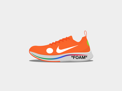 Nike x Off-White Zoom Fly Mercurial Flyknit flyknit mercurial virgil vector sneakers shoes off-white nike illustration design abloh