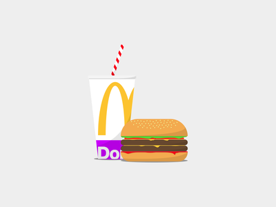 McDonald's cheeseburger сoca mcdonalds food vector illustration design