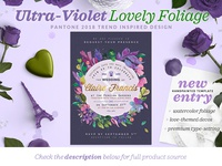 Ultra-Violet Lovely Foliage Invite II