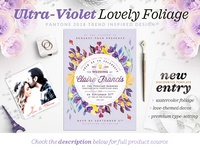 Ultra-Violet Lovely Foliage Card IV