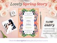 Lovely Spring Story Invite I
