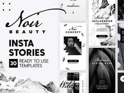 Instagram Stories - Noir Beauty Ed. apparel blogger marketing blog fashion branding social media black template story instagram insta story