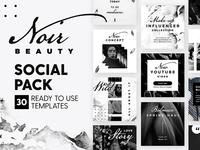 Noir Beauty - Social Pack