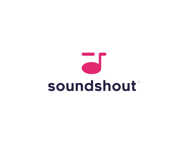 Soundshout music illustration icon illustrator logo design branding modernlogo cleanlogo modern clean simple minimal clever creative logodesign logo sound
