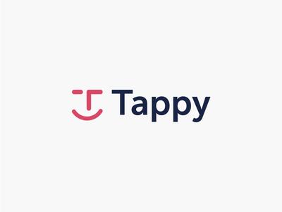 Tappy Logo Concept illustrator clean creative logo design design branding happy accident modern minimal simple logo happy t letter initial letter