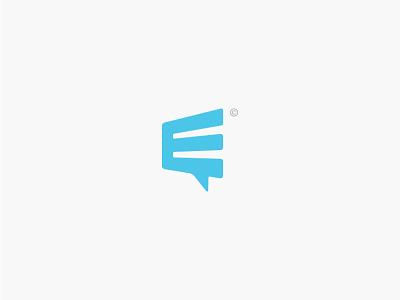 E-Chat Concept creative branding illustrator logo design minimal simple logos logo concept chat app chatting chat