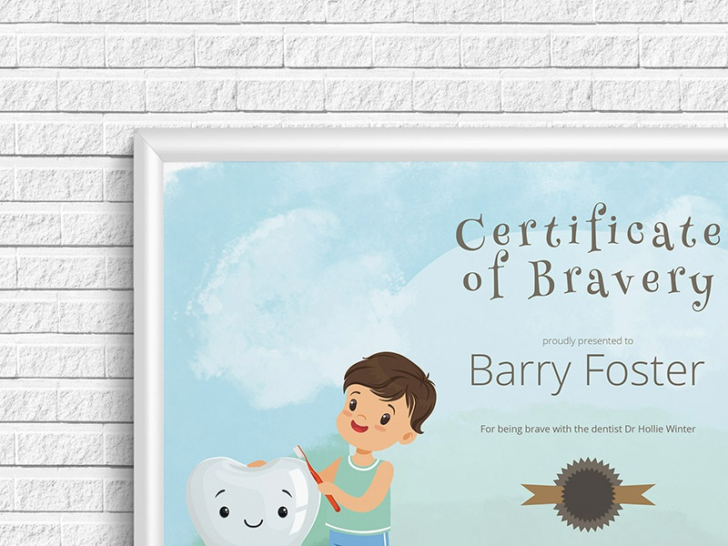 Certificate Of Bravery By Certifreecates Dribbble Dribbble