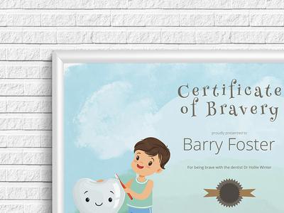 Certificate Of Bravery