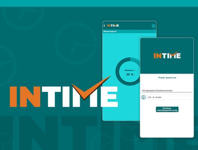 INTIME - mobile app time clock web edsign website