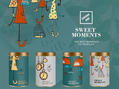 Sweet Moments illustratiuns website chocolate coffe tea
