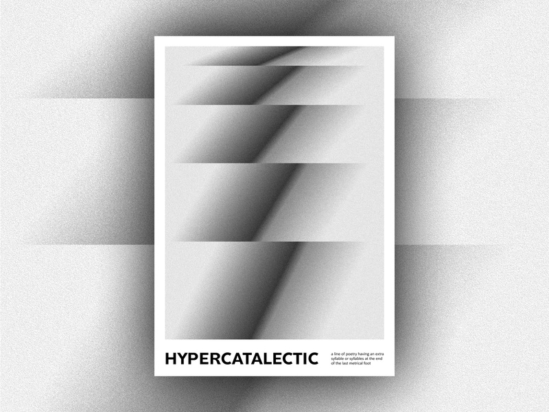 Hypercatalectic typogaphy print covid graphic design abstract gradient poster