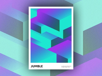 Jumble poster art design gradient covid typography print abstract graphic design poster