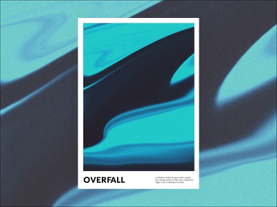 Overfall abstract daily poster poster a day poster gradient graphic design design