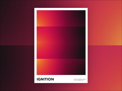 ignition poster a day abstract print poster art poster graphic design gradient design