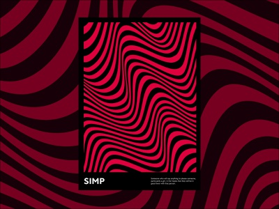 simp poster a day print poster art poster graphic design abstract design