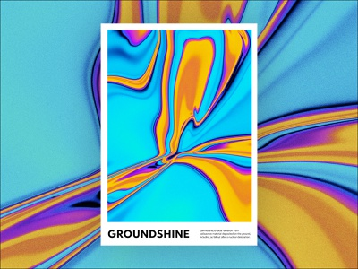 groundshine posters daily poster poster a day print poster art gradient poster graphic design abstract design