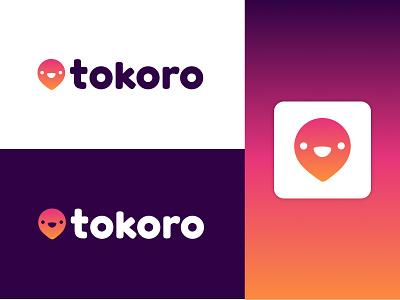 Tokoro brand location pin graphic design design logo gradient brand identity logo design branding