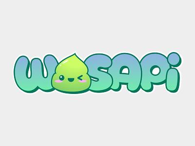 wasapi logo wasabi kawaii logo design