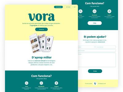 vora landing page app app promotion app website branding design pastel typography graphic design web design landing landing page design landing page
