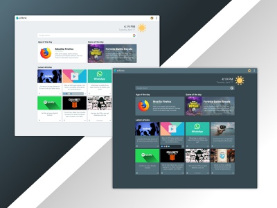 softonic muzli chrome extension articles ui homepage design