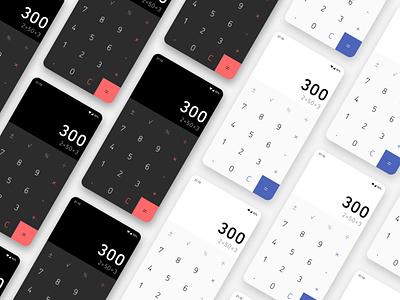 Calculator mobile ui design calculator dailyui