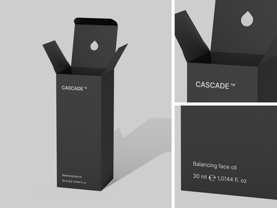 CASCADE - Cosmetics Packaging design cosmetics logo skin care logo design brand skin care cosmetics minimal packaging men skincare packaging branding logo design brand identity packaging design cosmetics packaging packaging