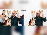 Dogs With Man Picture Editing