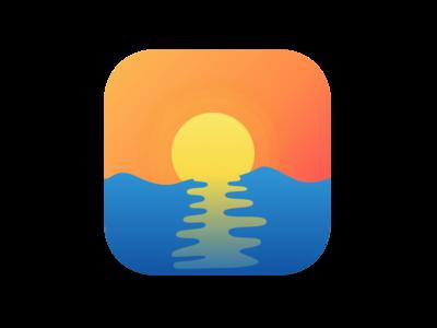 Sunset Icon - daily UI challenge